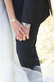 Armbanduhr bei der Hochzeit