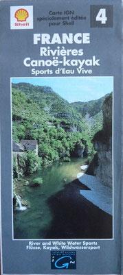 IGN, France Rivières Canoë-kayak Sports d'Eau Vive, SHELL, 1993 (la Bibli du Canoe)