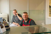 Peter Iselin und Drago Paunovic am Empfang
