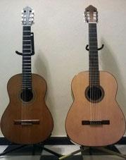 Guitarra (izq.) y guitarrón
