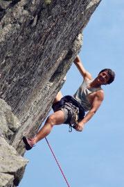 Quand il le peut, Jean-Yves Fredriksen aime revenir grimper à la Martinswand dans les Vosges avec son frère et ses amis du CAF des Hautes-Vosges