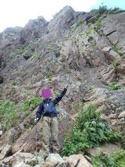 ここを登りました。