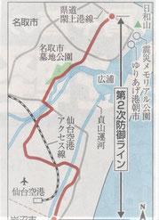 名取市復興道路・閖上~仙台空港付近