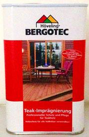 Bergotec Teak-Imprägnierung für natürliche Teakholzfarbe und natürliche Maserung