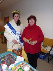 Auch die amtierende Bollenkönigin aus Calbe (Saale) besuchte unseren Stand (Foto: Christa Schmidt)