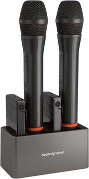 beyerdynamic Tischladegerät bestückt mit Handsender, Taschensender und Taschenempfänger
