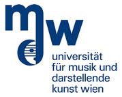 Logo der Uni für Musik und darstellende Kunst Wien