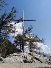 Gipfelkreuz am Großen Schoberstein am Attersee, Ausläufer des Höllengebirges