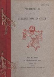 Henri Doré. Recherches sur les superstitions en Chine. Deuxième partie, Le panthéon chinois. Tome VIII.