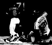 Garry Maddox is forced on second in the fourth inning.