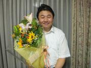 退職の際にお花をいただきました