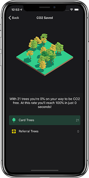 App Screen bunq CO2 Kompensation
