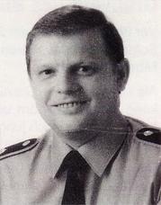 Das Bild zeigt Oberstleutnant Schmaler, den Bataillonskommandeur im Jahr der Auflösung (1992).