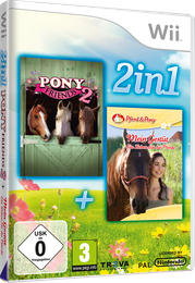 Packshot 2 in 1 Wii Spielesammlung: Pony Friends 2 + Mein Gestüt – Ein Leben für die Pferde