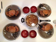 蟹と魚の味噌汁♪