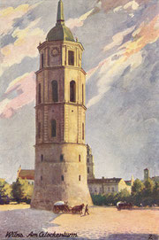 Atvirutė. Vilnius. Kohan & Co. Berlin SW. Katedros varpinė / Postcard. Vilnius. Kohan & Co. Berlin SW. Cathedral belfry