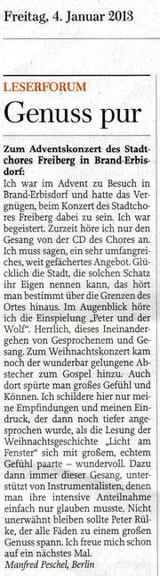 "Leserbrief in ""Freie Presse"", 04.01.2013"