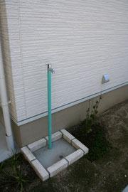 立水栓はシンプルに