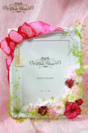 誕生日 フラワーギフト プレゼント プリザーブドフラワー フォトフレーム エミオン東京ベイ