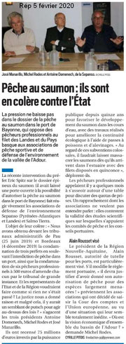 Article de presse sur la République du 5 février 2020