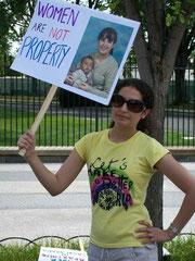 Manifestation organisée par Institue for Gulf Affairs devant la Maison Blanche