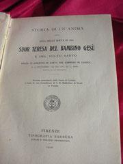 """La prima traduzione italiana di """"Storia di un'Anima"""" fatta a Firenze"""