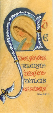 Una pergamena dipinta da una monaca