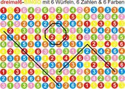 Markierungsbeispiele bei mittlerer Spieldauer bei dreimal 6 - BINGO