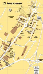 Plan de la zone Aussonne