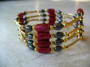 bijou magnétique aimants rouges