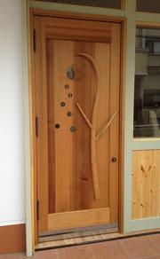 木製 美容室ドア