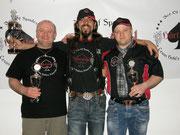 v.l.n.r. Alfred Ledl (2. Platz), Wolfgang Wahl (1. Platz), Ralf Ledl (3. Platz)