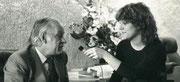 Avec l'ex-premier ministre du Québec,  René Lévesque - un grand homme