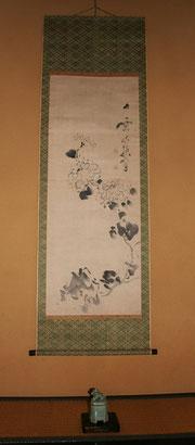 9月池大雅の菊図