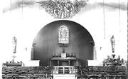 Intérieur de la première église