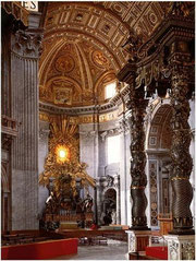Bernin, Vue intérieure de Saint-Pierre de Rome, Vatican, copyright : M.Lefftz