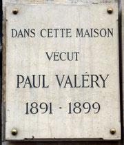 Plaque Paul Valéry, 12 rue Gay-Lussac, Paris 5