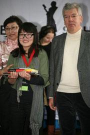 Bayanjargal mit Herrn Wendelberger und Frau Khadjidmaa