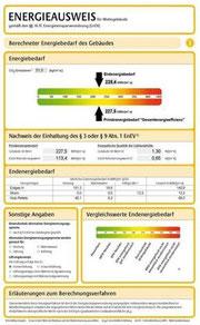 EnEV Nachweis Energiepass