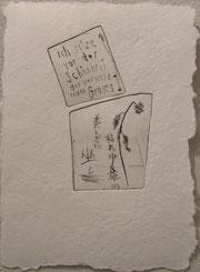 Haiku von Santoka, 22 x 32 cm