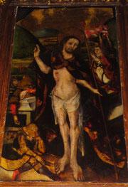 Pintura de la escuela flamenca del Resucitado en la Parroquia de San Bartolomé