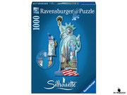 Empfehlung Ravensburger Silhouette-Puzzle Freiheitsstatue New York (16151)