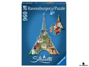Ravensburger Silhouette-Puzzle Eiffelturm Paris 16152