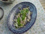 秋刀魚とキノコのマリネ