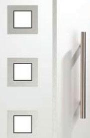 Vidrio y tirador para puerta de entrada