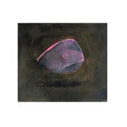 Treibender Stein, 9x11 cm, Aquarell, 2019