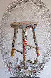 Kunst, Objekt, Nesthocker, Annette Palder, Haan