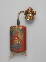 Inro con ojime y netsuke del S:XVIII. Metropolitan Museum of Art