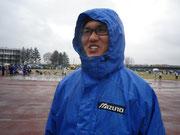 雨の中でドロドロになりました
