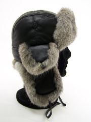 chapeau-en-peau-d-agneau-et-fourrure-naturelle-de-lapin-cuir-souple-chaud-froid-chapka-cagoule-bonnet-cuir-profil-only mouton